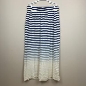 Lane Bryant blue and white ombré sweater skirt
